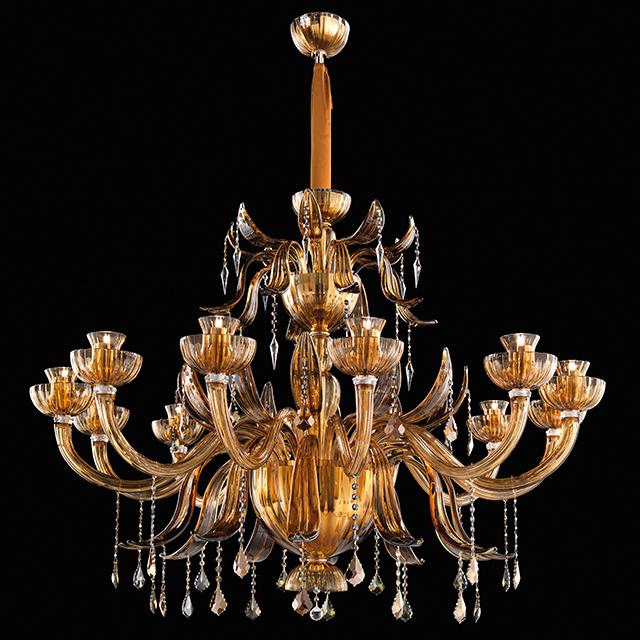 Murano glass and Swarovski Elements applique, magnificent contemporary style